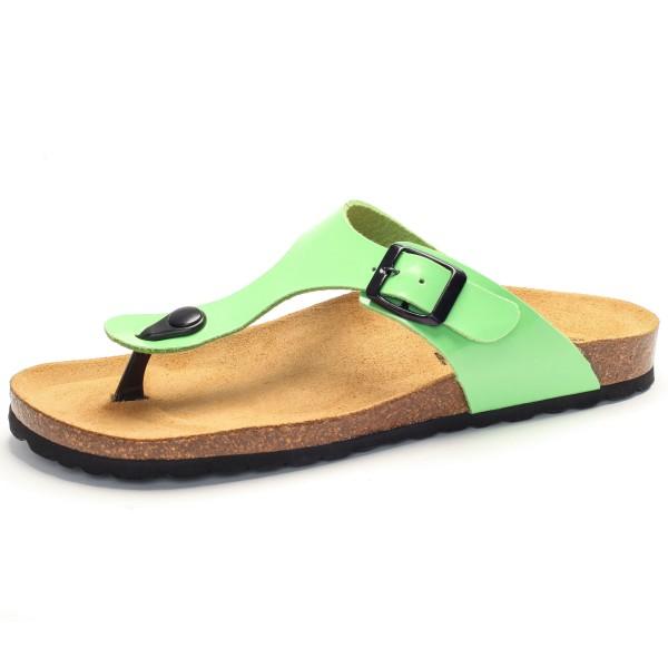 Zehensandale mit Fußbett - charol sintetico - pistacho