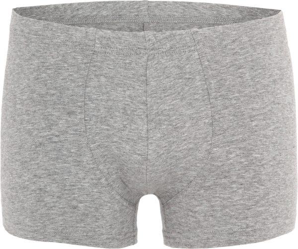 Retro-Shorts aus Bio-Baumwolle - grau-meliert