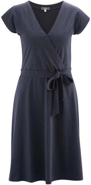 Kleid aus Bio-Baumwolle und Viskose - ink blue