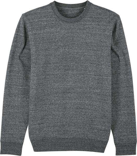 Unisex Sweatshirt aus Bio-Baumwolle - slub heather steel grey