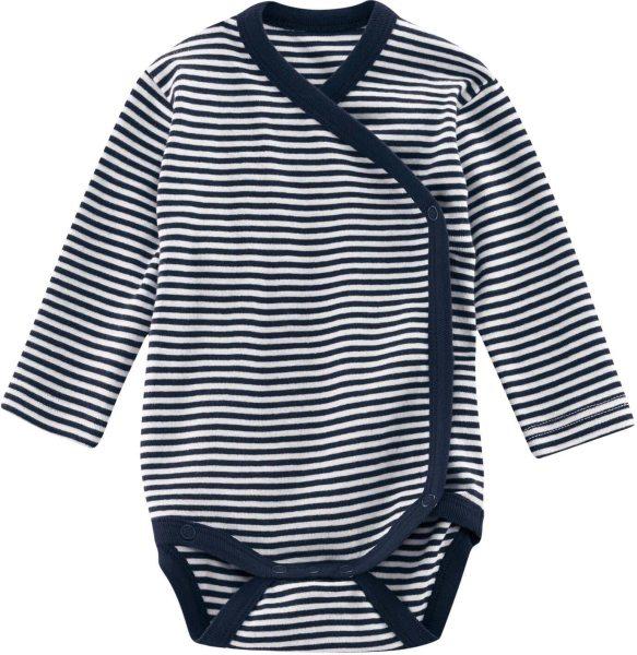 Baby Wickel-Body Bio-Baumwolle – navy/white