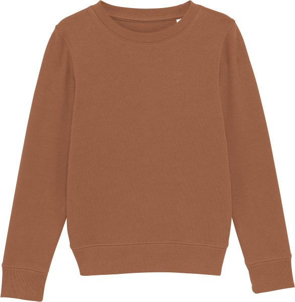 Kinder Sweatshirt aus Bio-Baumwolle - caramel