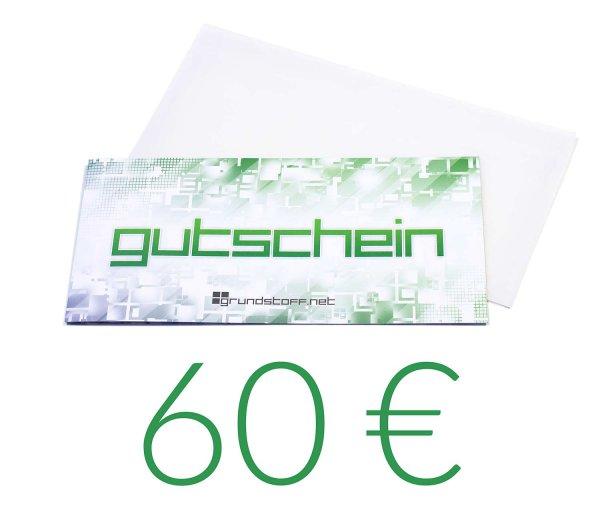 60,- EUR Geschenkgutschein - neutrales Design - Bild 1