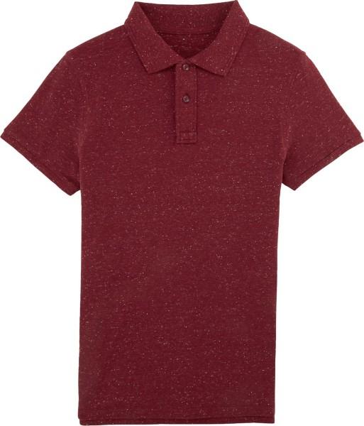 Piqué-Poloshirt aus Bio-Baumwolle - heather burgundy