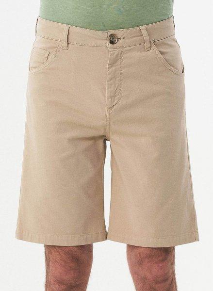 Regular Fit Shorts aus Bio-Baumwolle - beige