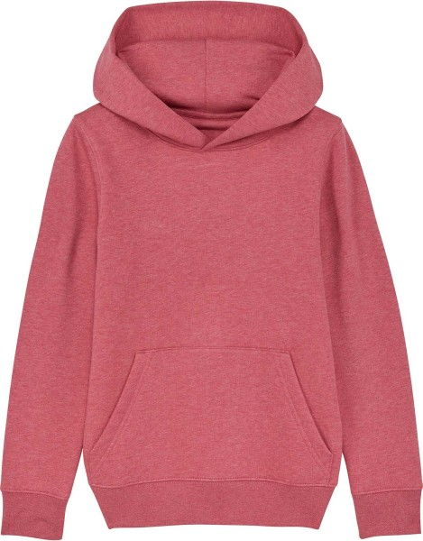 Kinder Hoodie aus Bio-Baumwolle - heather cranberry
