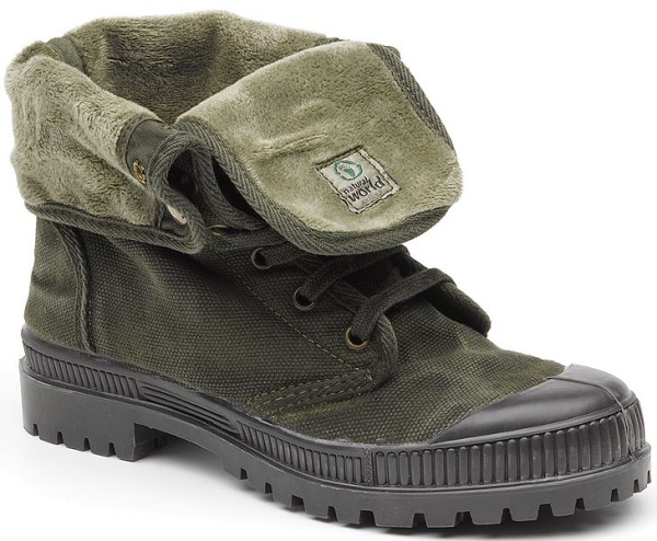 Bota Cuello - Schuhe aus Bio-Baumwolle - kaki enzimatico - Bild 1