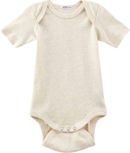 Baby Kurzarm-Body aus Bio-Baumwolle - natural melange