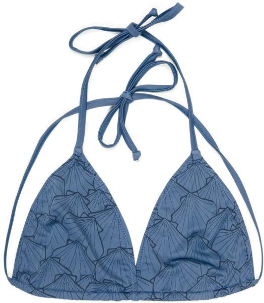 Eco Triangel Bikini Oberteil - blau gemustert