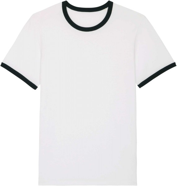 Retro T-Shirt aus Bio-Baumwolle - white/black