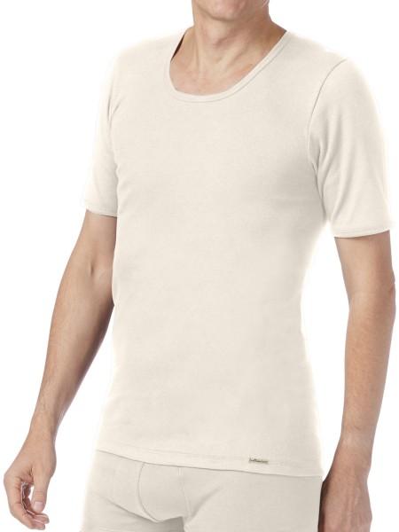 Feinripp T-Shirt aus Fairtrade Biobaumwolle - natur