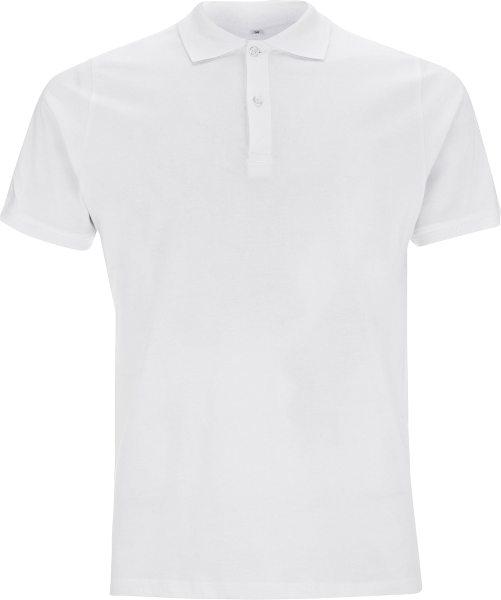 Jersey Polo T-Shirt weiss