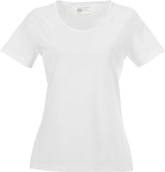 Change - T-Shirt mit weitem Ausschnitt - Biobaumwolle weiss - Bild 1