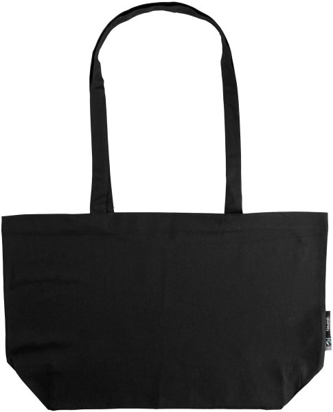 Organic Shopping Bag - breit mit langem Hänkel - Fairtrade black - Bild 1