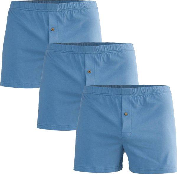 Boxershorts aus Bio-Baumwolle - 3er-Pack - denimblau