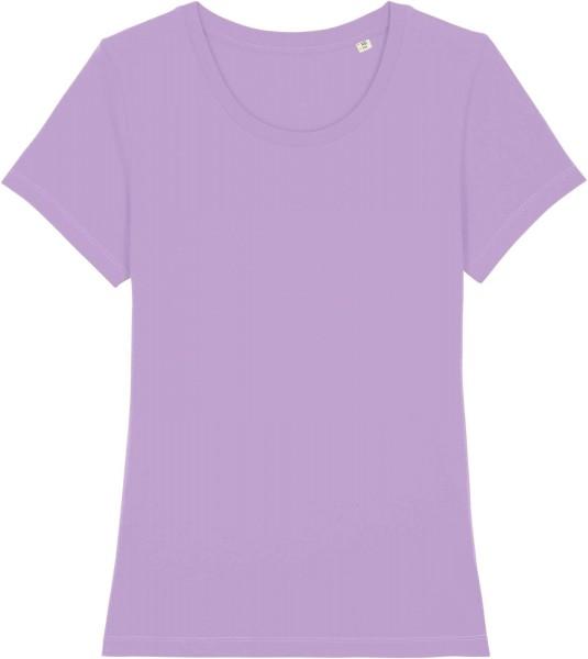 T-Shirt aus Bio-Baumwolle - lavender dawn