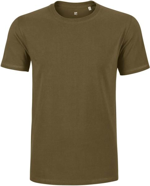 T-Shirt schwerer Stoff Bio-Baumwolle - british khaki