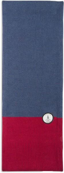 Strickschal aus Bio-Baumwolle - navy/red