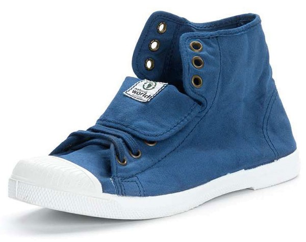 Bota Sport - Hohe Sneakers aus Bio-Baumwolle - azul - Bild 1