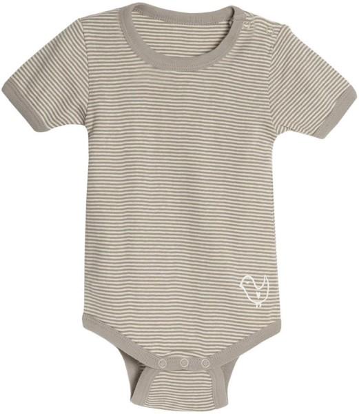 Kurzarm-Body Babies gestreift faire Herstellung Living Crafts