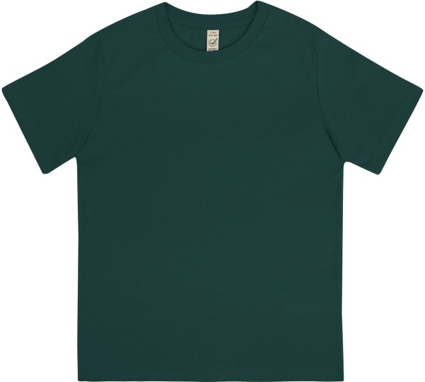 Kinder T-Shirt aus Bio-Baumwolle - bottle green