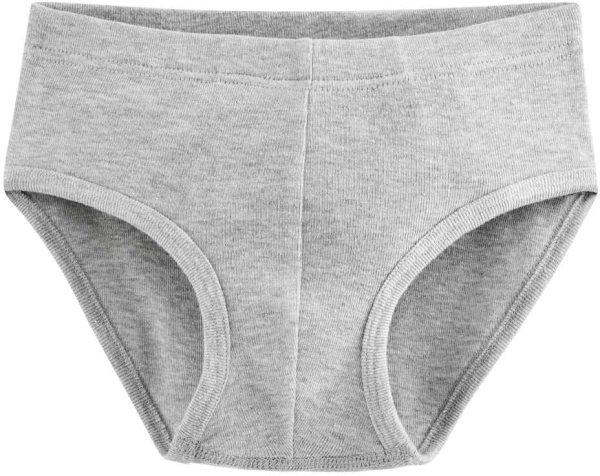 Jungen Slip aus Bio-Baumwolle - grey melange