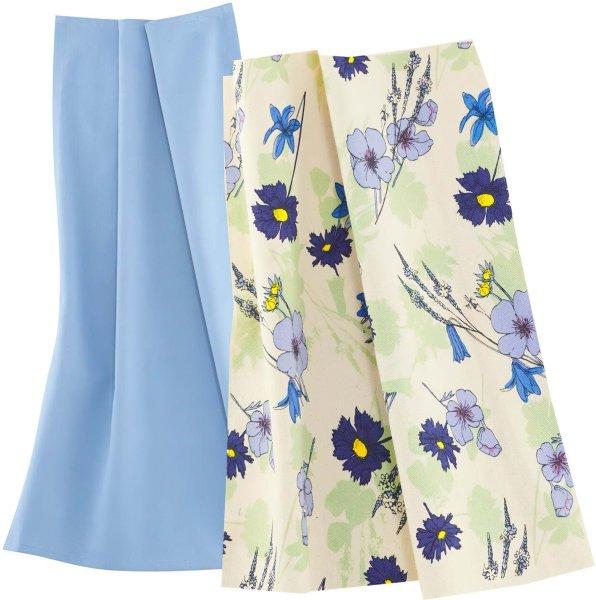 Geschirrtuch aus Bio-Baumwolle - 2er-Pack - wildflowers blue