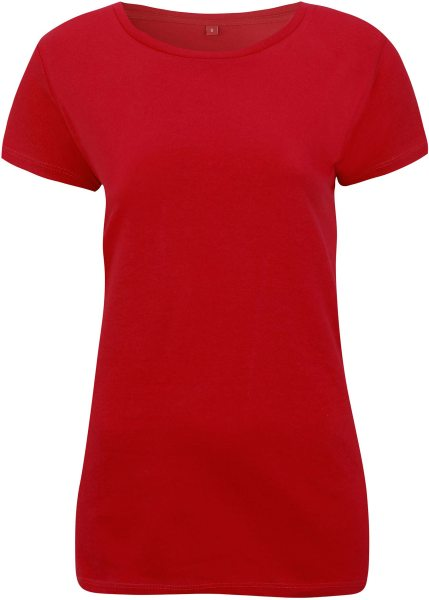 Regular Fit T-Shirt mit weitem Halsausschnitt - red