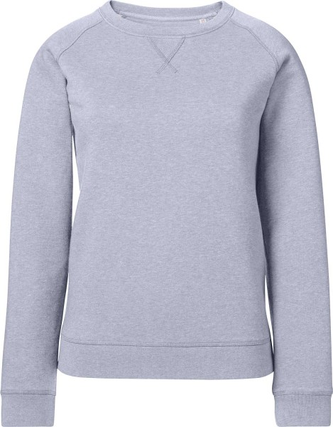 Sweatshirt aus Bio-Baumwolle - light heather lilac