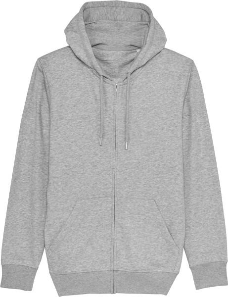 Unisex Kapuzenjacke aus Bio-Baumwolle - heather grey