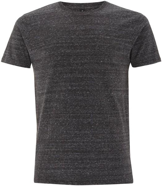 Herren T-Shirt Special Yarn black twist