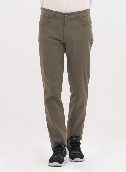 5-Pocket-Hose aus Bio-Baumwolle - khaki