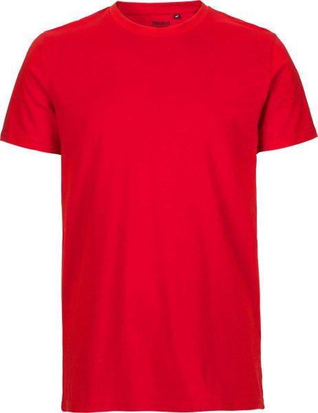 Fitted T Shirt aus Fairtrade Bio Baumwolle rot